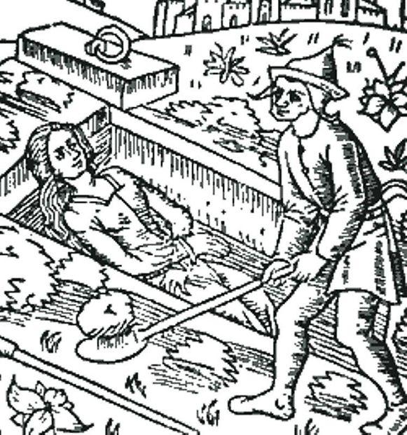Zakopywanie żywcem; niemiecka rycina