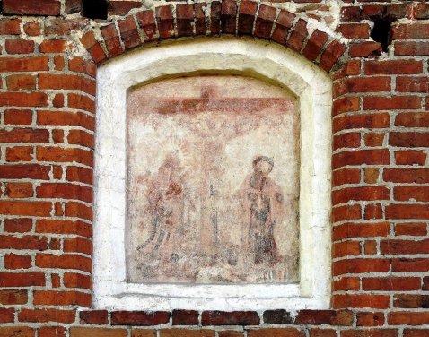 Kościół w Miłoradzu, scena Ukrzyżowania