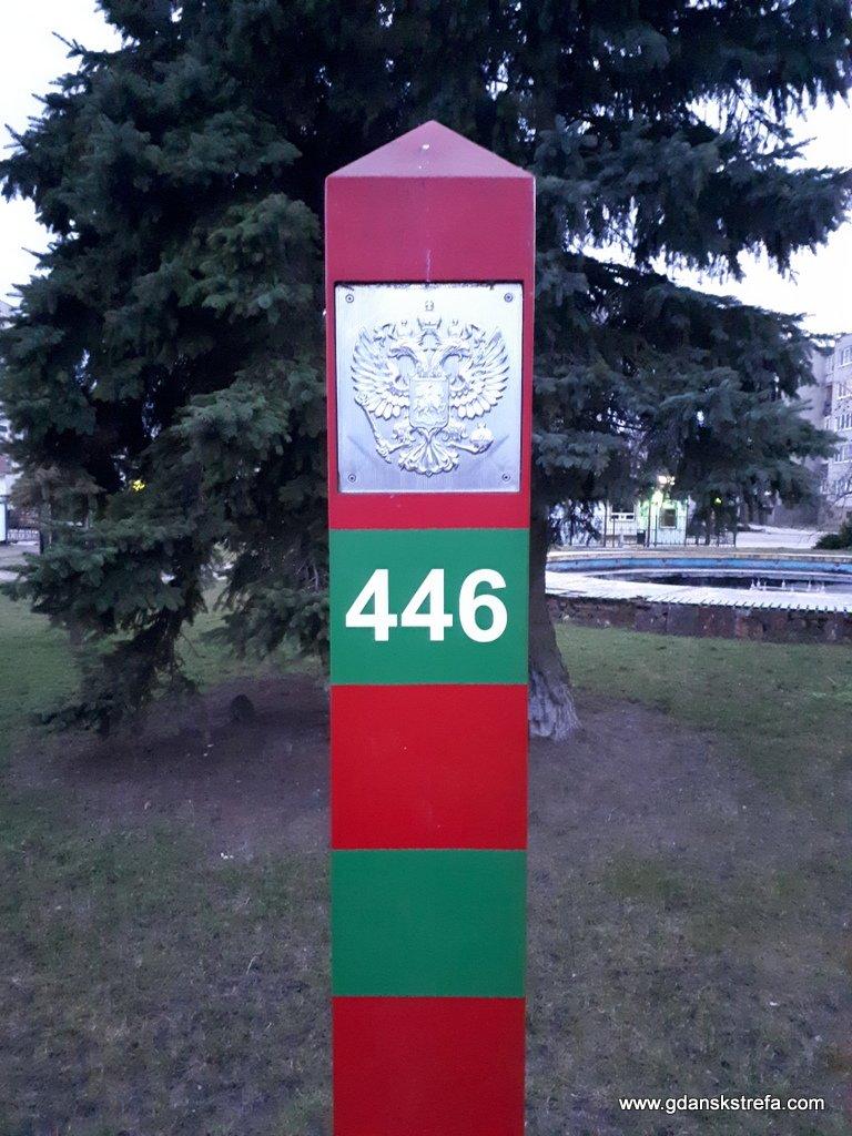 Rosyjski słup Graniczny nad Niemnem