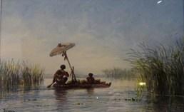 """Eduard Hildebrandt """"Syjamska rodzina na wodzie"""""""