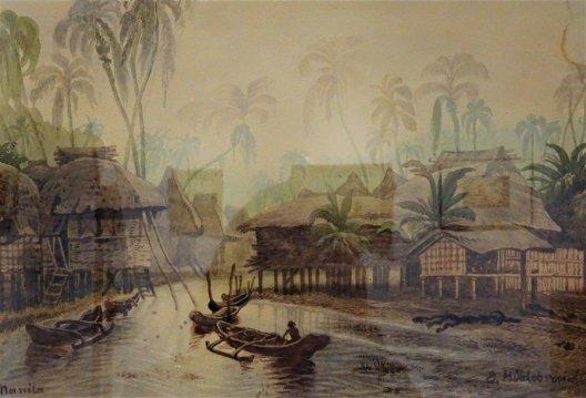 """Eduard Hildebrandt """"Wieś na Filipinach"""""""