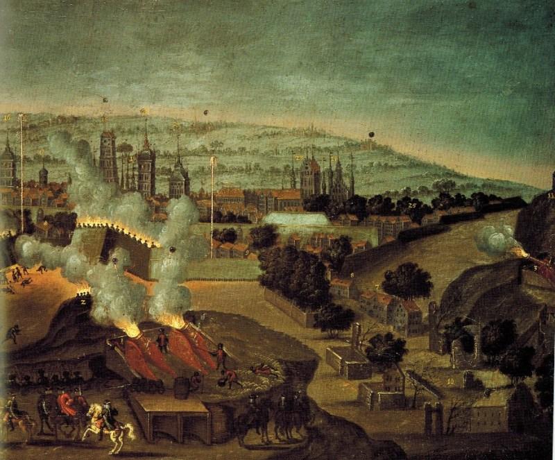 Oblężenie Gdańska Fragment obrazu