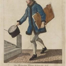 gdańscy wywoływacze - sprzedawca rycin