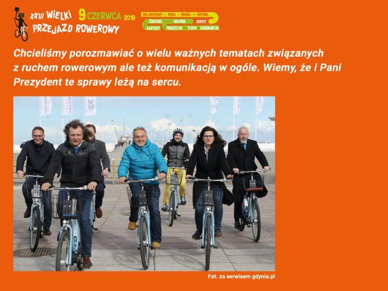 Działacze oraz uczestnicy Wielkiego Przejazdu Rowerowego, chcieli porozmawiać o wielu ważnych tematach związanych z ruchem rowerowym.