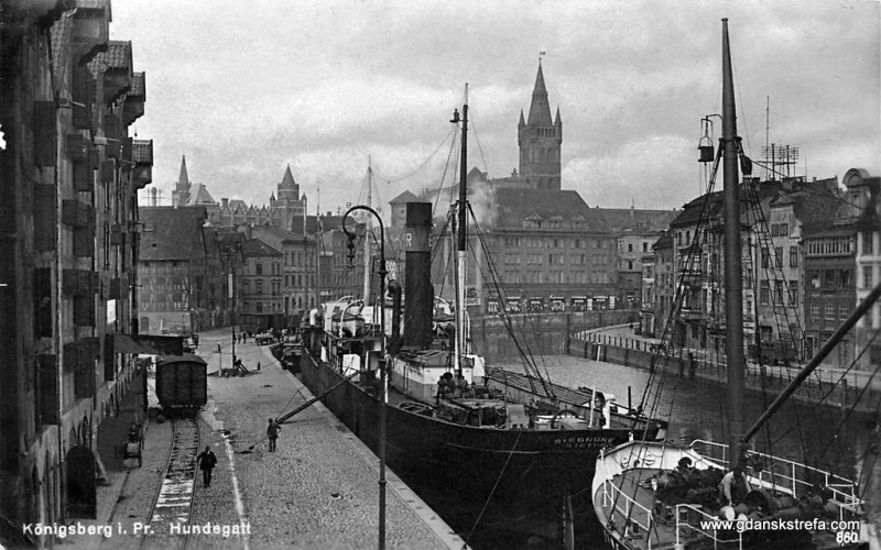 Königsberg, widok na Zamek