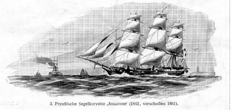 SMS Amazone zwod. w roku 1843