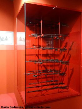 Destrukty karabinów używanych przez polskich żołnierzy w trakcie bitwy pod Bzurą; zbiory Muzeum Ziemi Sochaczewskiej i Pola Bitwy Nad Bzurą