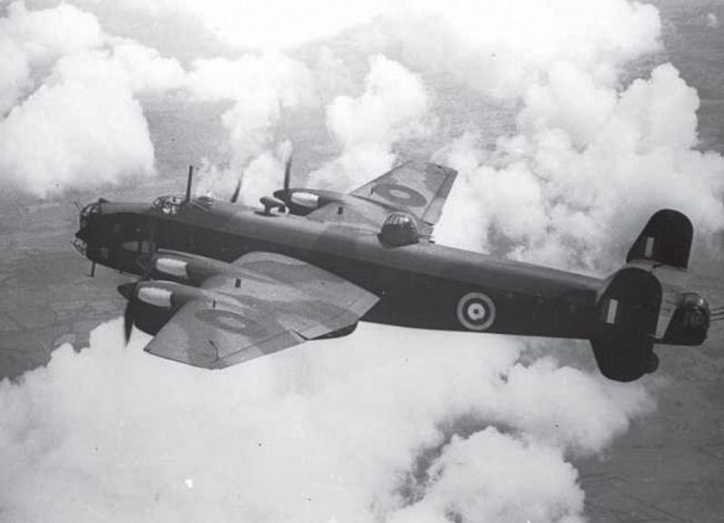 Halifax Mk I/II w locie
