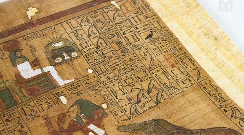 Faksymile Księgi Umarłych w Muzeum Archeologicznym