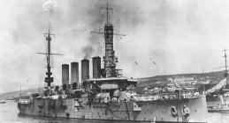 USS Pittsburgh w 1919 r. u wybrzeży Chorwacji.