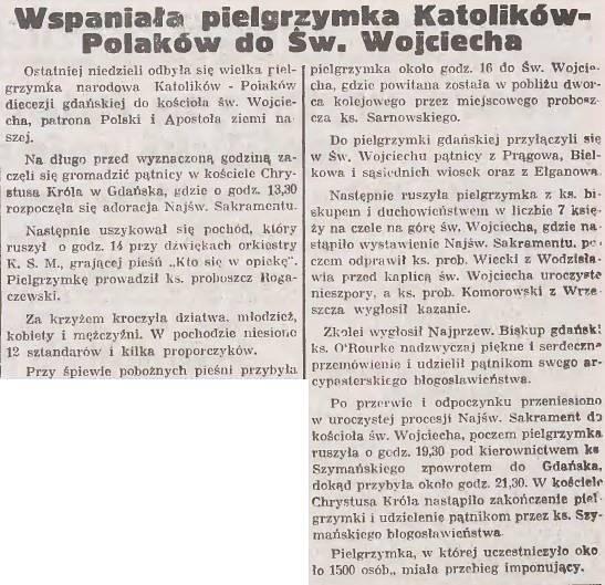 """Artykuł z """"Gazety Gdańskiej"""" 18.06.1935 rok."""