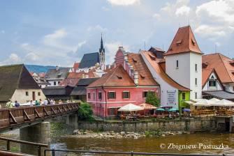 Jeden z najstarszych budynków (młyn) w Czeskim Krumlowie