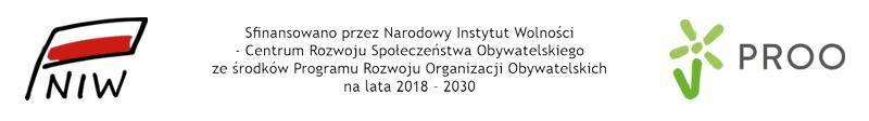 Sfinansowano przez Narodowy Instytut Wolności  - Centrum Rozwoju Społeczeństwa Obywatelskiego ze środków Programu Rozwoju Organizacji Obywatelskich na lata 2018 – 2030