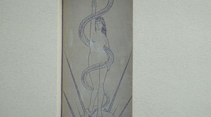 Dekoracja malarska z fasady budynku należącego do Gdańskiego Uniwersytetu Medycznego, w którym mieści się sala wykładowa im. prof. Rydygiera