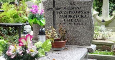 Grób Malwiny Szczepkowskiej na cmentarzu w Oliwie