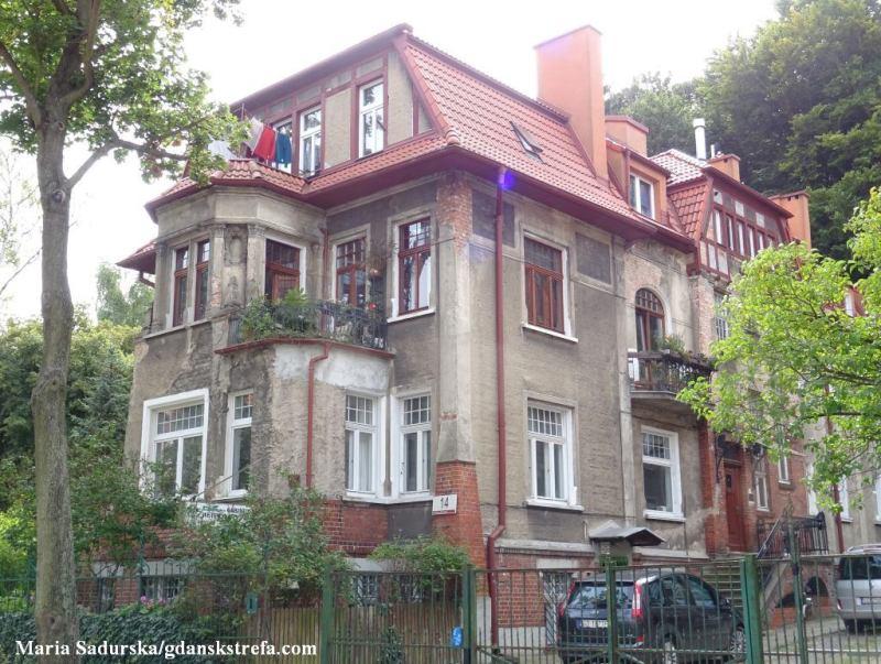 Budynek przy ul. Batorego 14 we Wrzeszczu, stan z 2020 r.