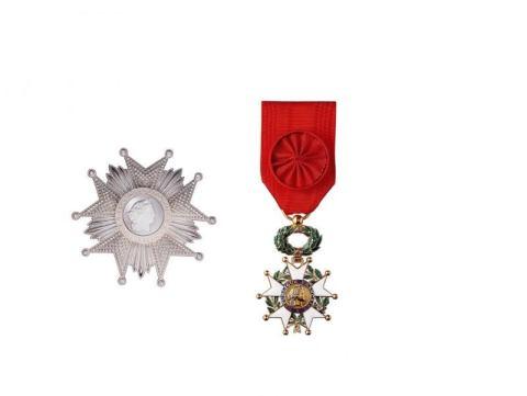 Gwiazda i krzyż wielkiego oficera Legii Honorowej