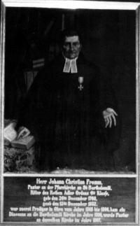 Portret pastora Johanna Christiana Fromma