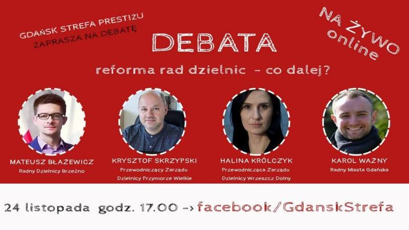 Debata - reforma rad dzielnic