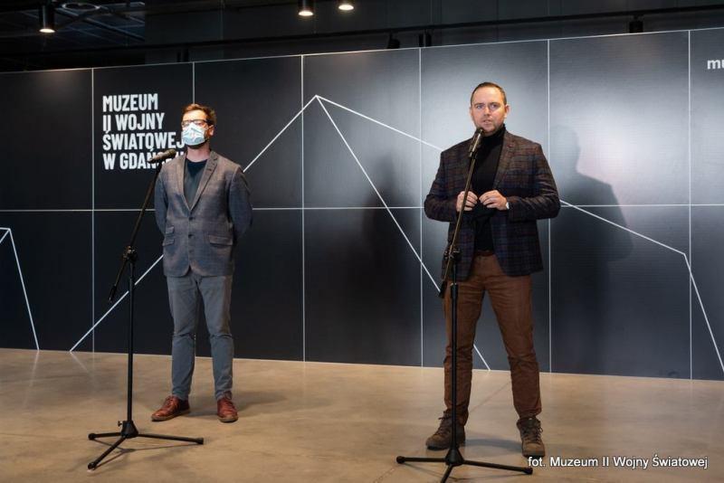 Konferencja prasowa Wojciech Samol i dr Karol Nawrocki