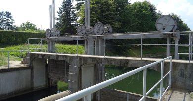 Śluza na kanale Raduni
