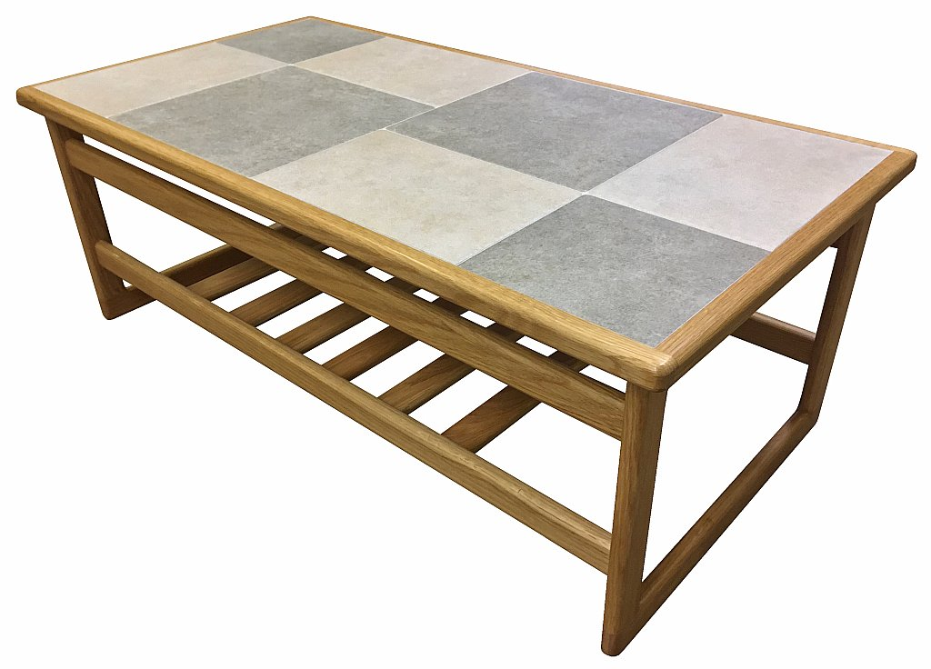 slate white large coffee table