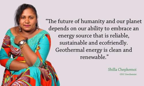#WomenInGeothermal Shilla Chepkemoi