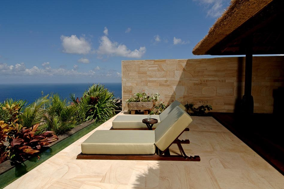 Bvlgari Bali hotel private villa pool with view of the ocean