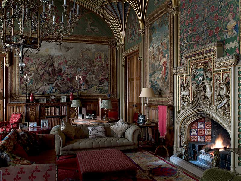THE DRAWING ROOM: English Country House Decoration at Eastnor Castle