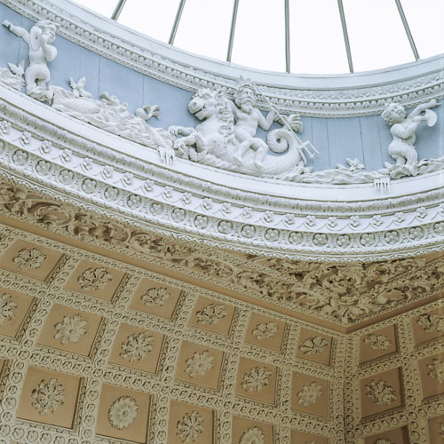 Claydon House in Buckinghamshire rococo plasterwork ceiling