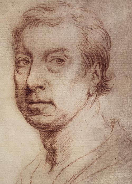 Jonathan Richardson Self-portrait c 1728-33 red chalk