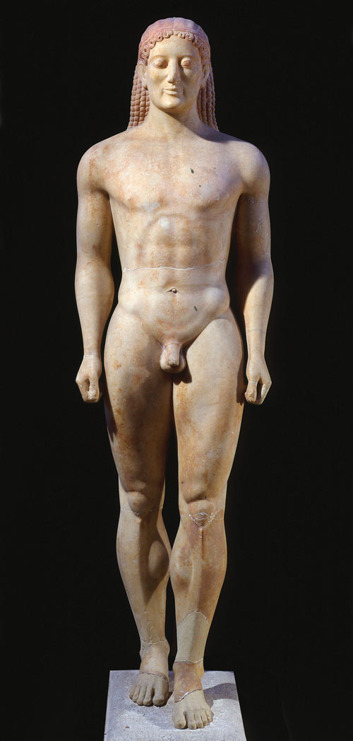 greek marble kouros about 530BC ancient Greek art