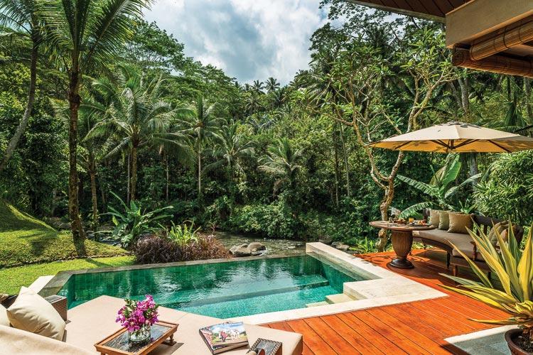 Villa plunge pool at Four Seasons Bali Sayan
