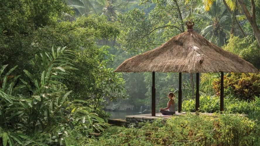 Meditation by the Ayung River Four Seasons Bali at Sayan