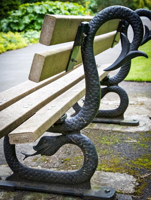 Cast iron bench that Ruskin encountered in the Lune Valley