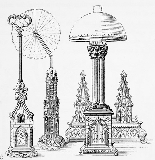 Victorian Cast iron objects in the Gothic style