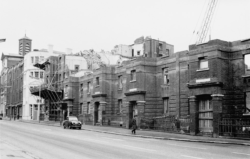 Demolishing Victoria Dwellings. Clerkenwell Road, 1970s Photograph by Colin O'Brien How London Has Changed