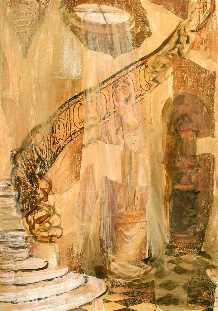 A state of Interiors no 2, mixed media by Rupert Dixon