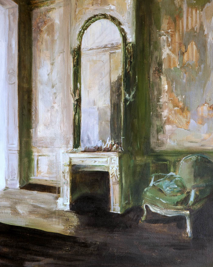 An Interior of Paris, oil on canvas by Rupert Dixon