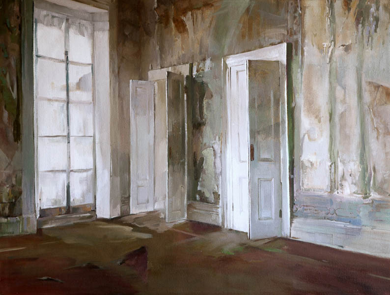 An Interior of Brighton, oil on canvas by Rupert Dixon