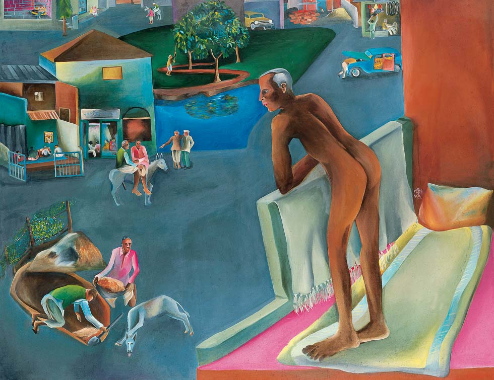 You Can't Please All by Bhupen Khakhar figurative painting in the twentieth century