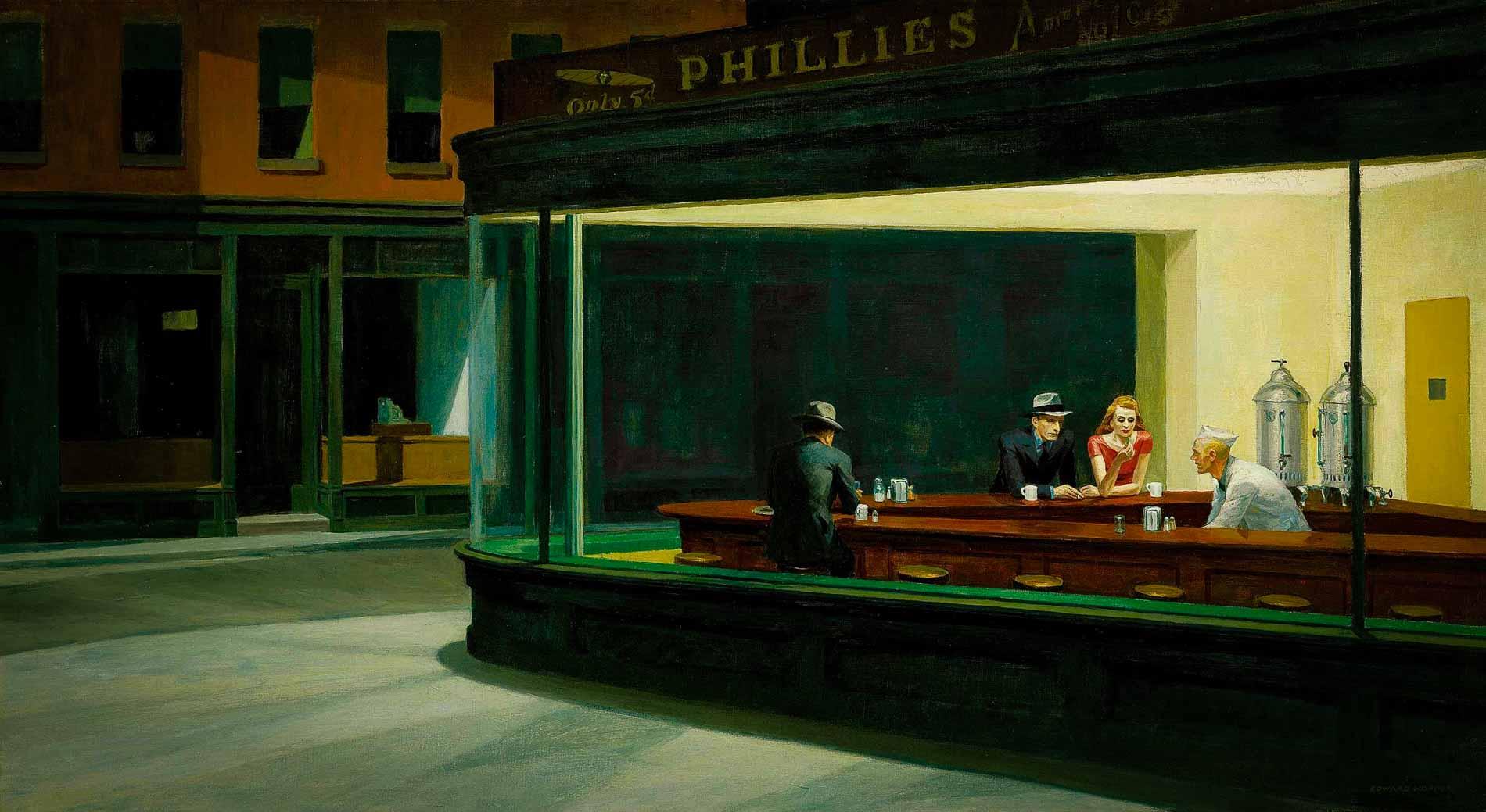 Nighthawks Edward Hopper Figurative Painting in the twentieth century