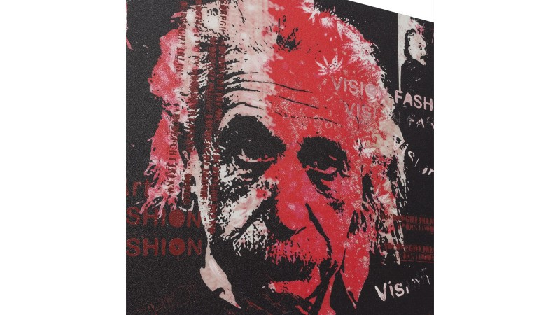 Peinture design portrait Albert Einstein Pula  GdeGdesign