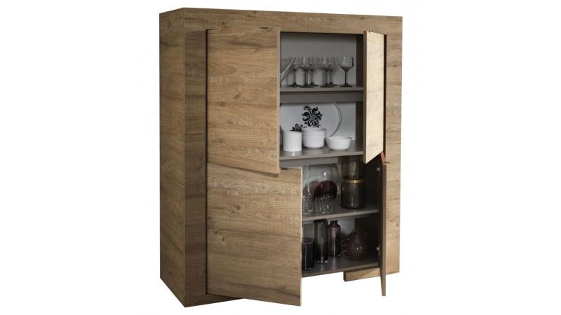 bahut haut design en bois 4 portes avec