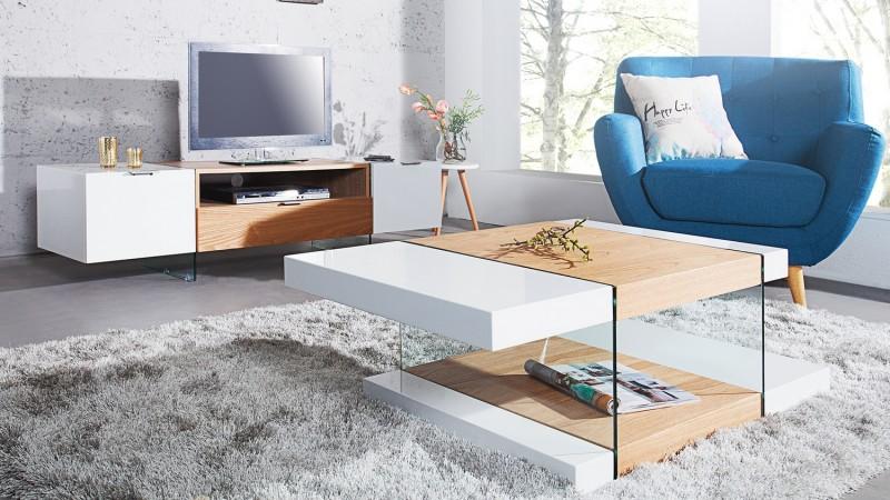 table de salon scandinave blanche