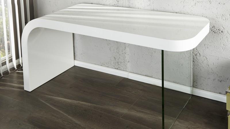 bureau design laque blanc avec