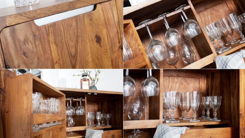 mini bar 2 portes en bois de