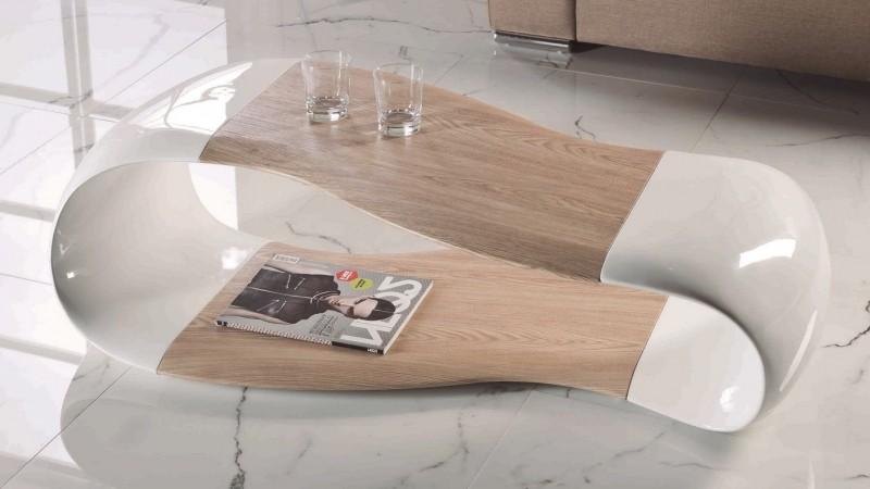 table basse design scandinave blanche