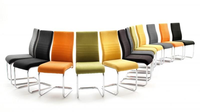 chaise moderne en tissu de couleur