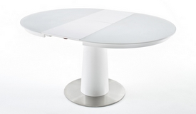table ronde extensible en verre kapil